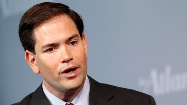 PHOTO: In this Oct. 5, 2011 file photo, Sen. Marco Rubio, R-Fla., speaks at the Newseum in Washington.