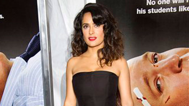 """PHOTO:Salma Hayek attends the """"Here Comes the Boom"""" premiere on Tuesday, Oct. 9, 2012 in New York."""