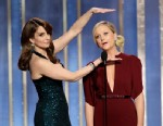 PHOTO:This image released by NBC shows co-hosts Tina Fey, left, and Amy Poehler on stage during the 70th Annual Golden Globe Awards held at the Beverly Hilton Hotel on Sunday, Jan. 13, 2013, in Beverly Hills, Calif.
