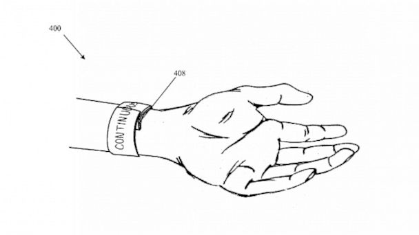 PHOTO: Apple iWatch patent application