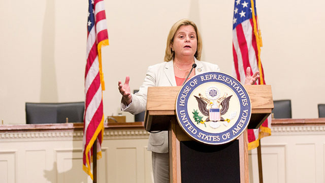 PHOTO: Rep. Ileana Ros-Lehtinen (R-FL), chair of the Committee on Foreign Affairs, held a press conference on Tuesday, September 13, 2011 to discuss legislation.