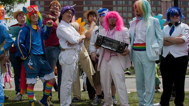 PHOTO:Bronies dressed up for Torontos Anime North convention