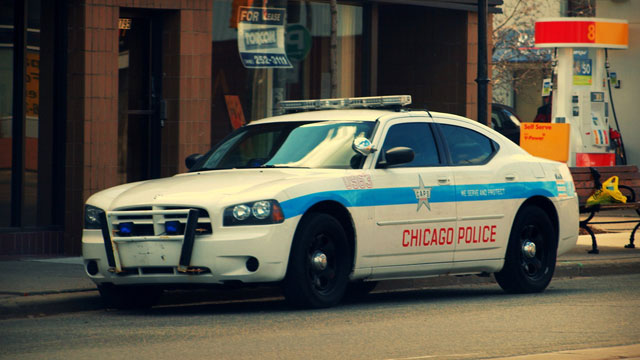 PHOTO: A Chicago police vehicle parked on the street