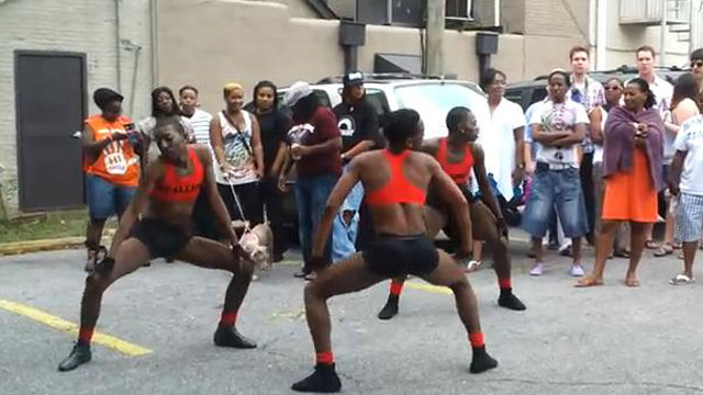 PHOTO: A J-Sette battle during Mobiles Pride celebrations.