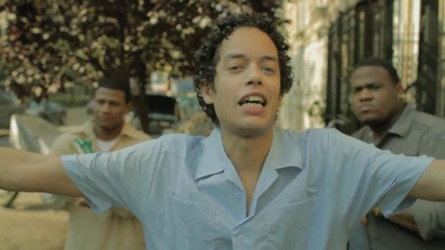 PHOTO:Willie, Jr. (Flaco Navaja) sings in the streets of Bushwick. Like ya do.