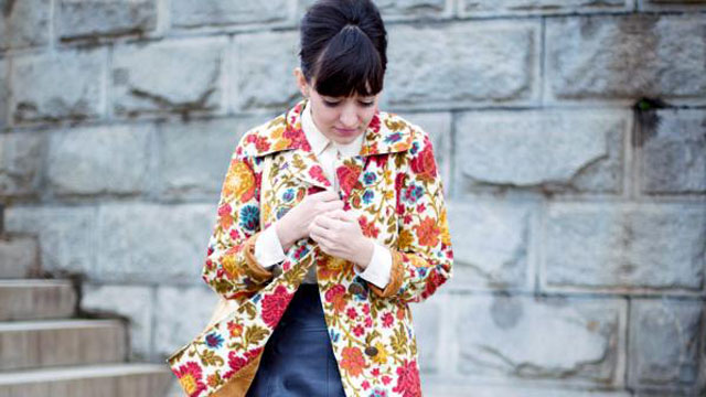PHOTO:Erin of Calivintage, lookin' snazzy in florals.
