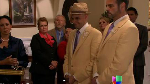 PHOTO: Univision's first same-sex wedding (feat. a pug in a suit)
