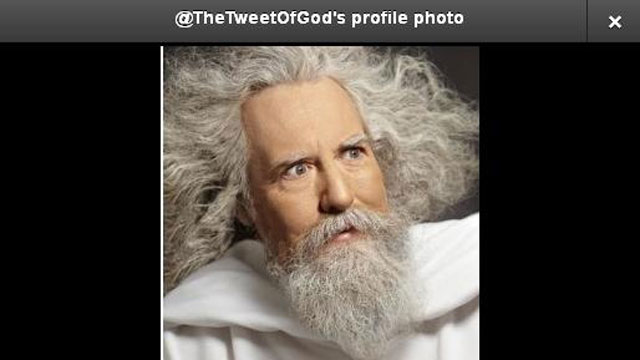 PHOTO:Above: God.