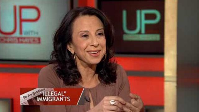 "PHOTO:Latina journalist Maria Hinojosa urged media companies to drop the term ""illegal"" immigrant."