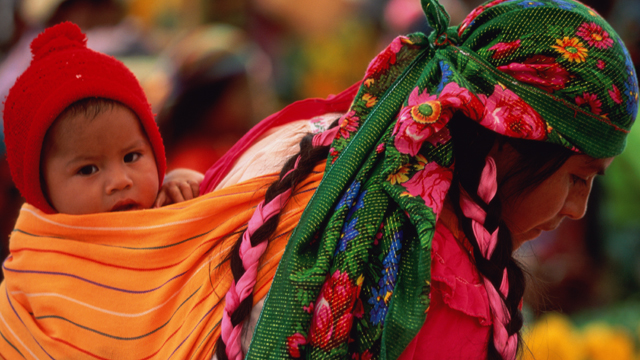 PHOTO: At Sunday market, Zapotec Indians from the state of Oaxaca in Mexico bring crafts and produce to sell.