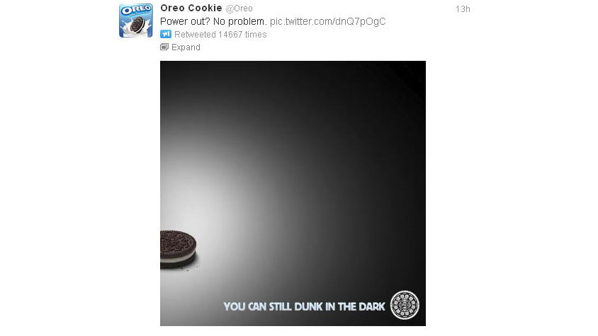 PHOTO:Oreo reminds us that snacking in the dark is just as delicious.