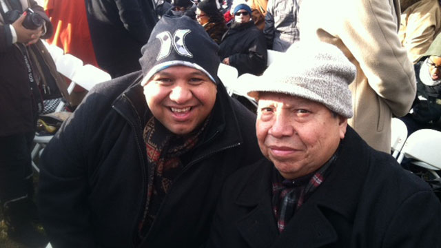 PHOTO:Members of the Coeur d'Alene tribe are excited to attend their second inauguration.