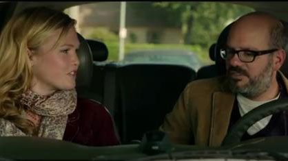 PHOTO:David Cross and Julia Stiles in the trailer for 'It's a Disaster'