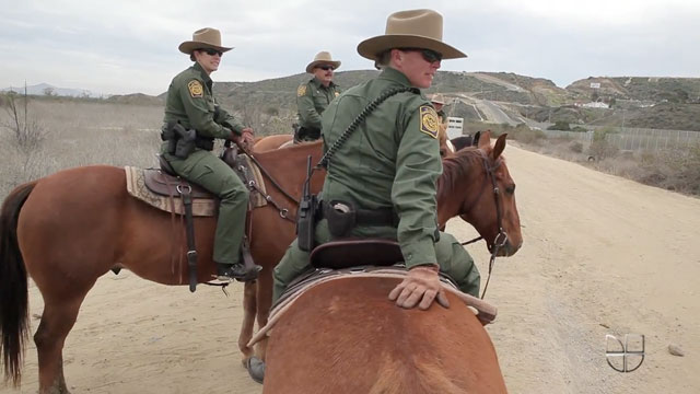PHOTO:A low tech, but effective tool, horseback border patrol units are increasing in the San Diego area.