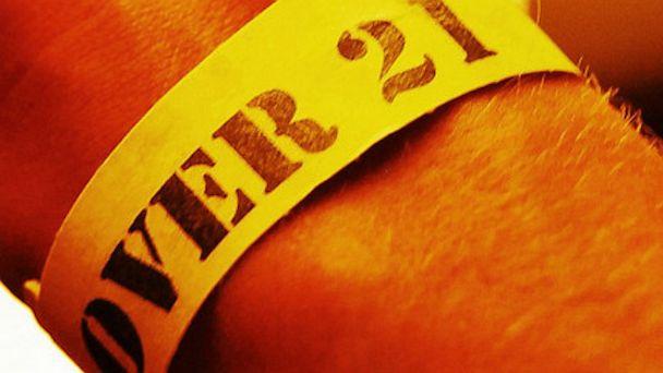 PHOTO: Over 21 wristband