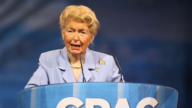 PHOTO:Eagle Forum founder Phyllis Schlafly, 88, speaks to the Conservative Political Action Conference in March 2013.