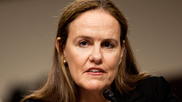 Michele A. Flournoy, US Under Secretary of Defense for Policy, speaks during a Capitol Hill hearing in 2011.
