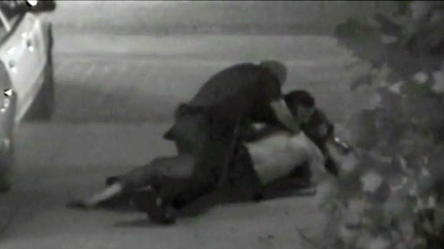 PHOTO: Footage from a security camera that shows much of the altercation between Fullerton police officers and Kelly Thomas.