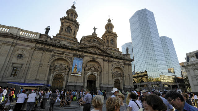PHOTO:The Cathedral at Santiago, Chile's capital city.