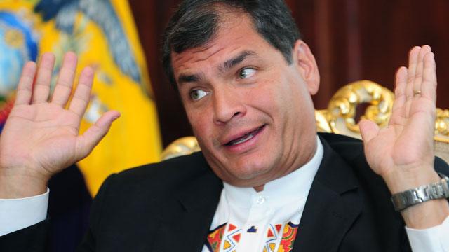 PHOTO:Ecuador's President partially backs the legalization of drugs.