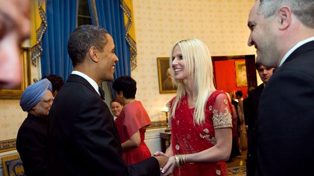 PHOTO:The Salahis meet President Obama