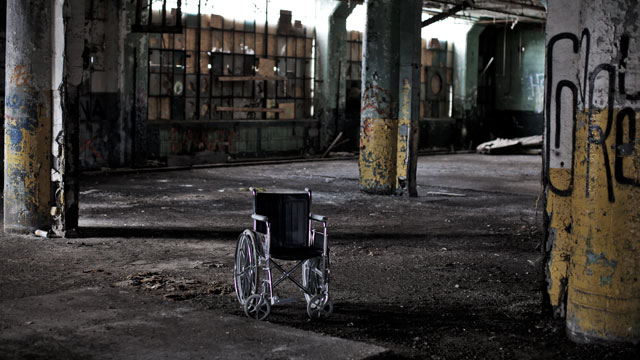 PHOTO:Inside the Fisher Body 21 plant, December 7, 2010 in Detroit, Michigan.