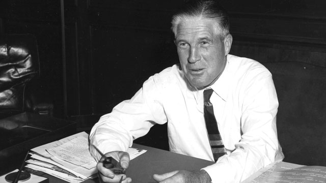 PHOTO:Photo of George Romney (1907 - 1995), governor of Michigan, and father of Mitt Romney