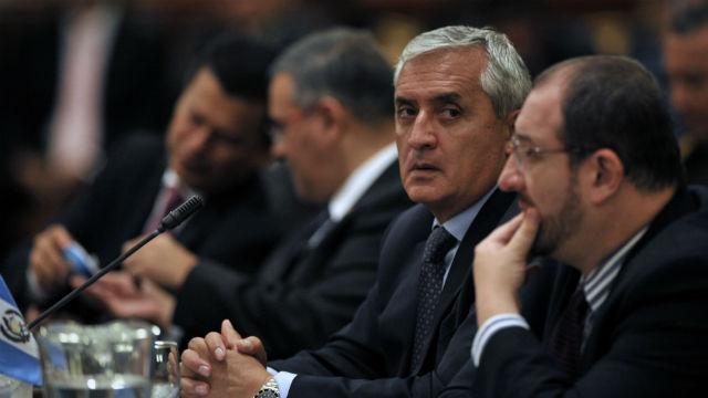 PHOTO:Guatemalan President, Otto Perez Molina