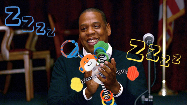 PHOTO: Rockabye Baby! creates lullaby renditions of rock and rap songs. Their next album: Jay Z. Photo of Jay Z at Nassau Veterans Memorial Coliseum Presentation at Nassau County Police Department Headquarters on May 2, 2013.