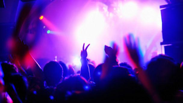 Nightclub crowd