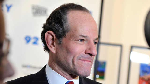 PHOTO:Eliot Spitzer attends A Special Night Of Comedy Benefiting Victims Of Hurricane Sandy at 92nd Street Y on December 10, 2012 in New York City.