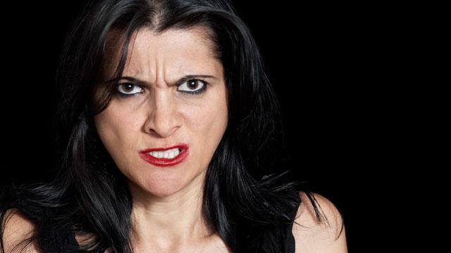 PHOTO:Aggressive woman