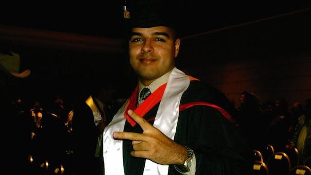 PHOTO:Carlos Martínez graduates.