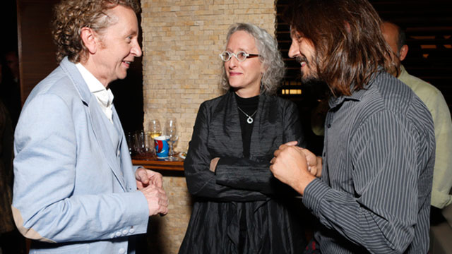PHOTO: Hecho En Mexico producer and musical supervisor Lynn Fainchtein (center) shares a moment with director Duncan Bridgeman (left) and actor Diego Luna