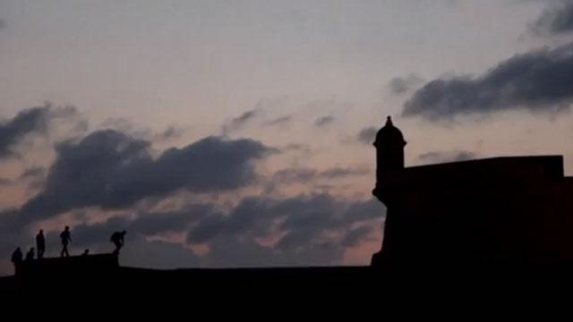 PHOTO:Fort San Felipe del Morro at sunset on April 2012.