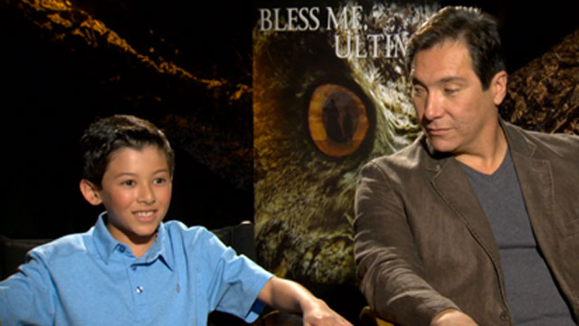 PHOTO: Luke Ganalon and Benito Martinez discuss the film adapted from renowned chicano book.