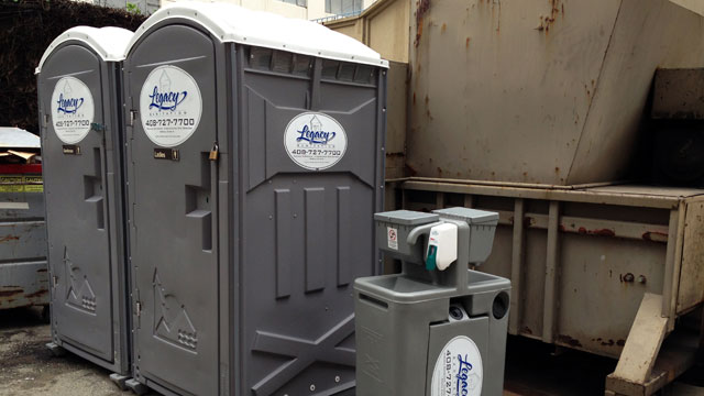 PHOTO:Porta potties