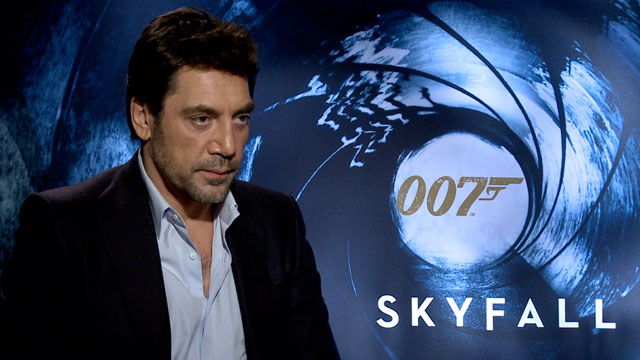 PHOTO: Javier Bardem speaks with ABC Univision about playing a villain in the new James Bond movie Skyfall.
