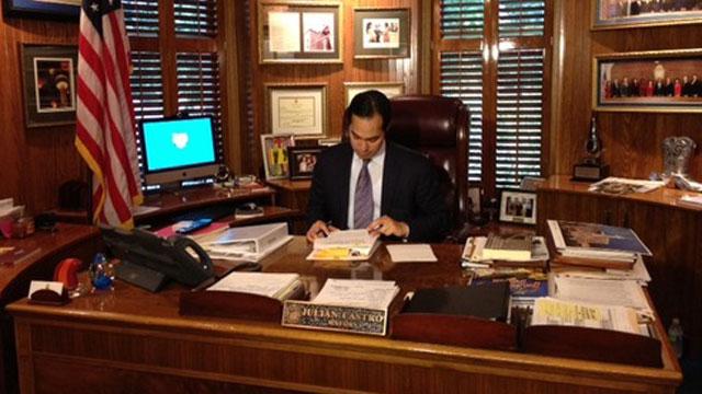 San Antonio Mayor Julian Castro at his office.