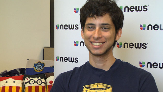 """PHOTO:Julian Gomez of the Harry Potter Alliance explains the real meaning behind the term """"Undocumented American."""""""