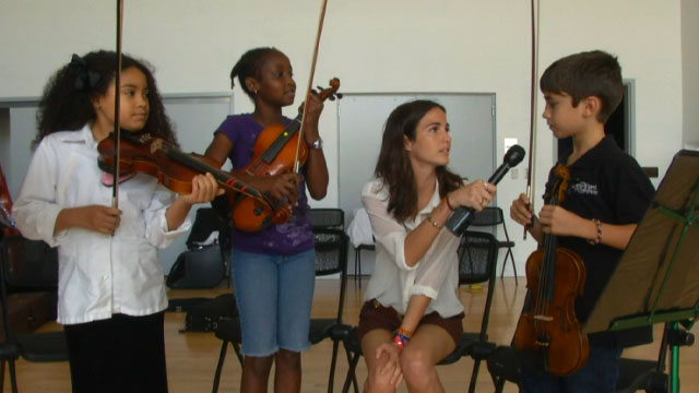 PHOTO:Kids from the Greater Miami Youth Symphony tell us what they listen to when theyre not perfecting Accolays Violin Concerto.