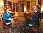 Maria Elena Salinas talks to President Obama after his Las Vegas announcement on immigration reform.