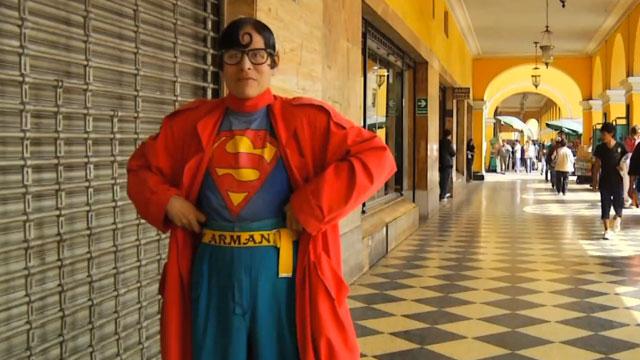 PHOTO:Avelino Chavez is Perus Superman.