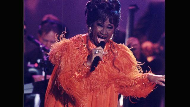 PHOTO:Celia Cruz at Premio Lo Nuestro in 2001.