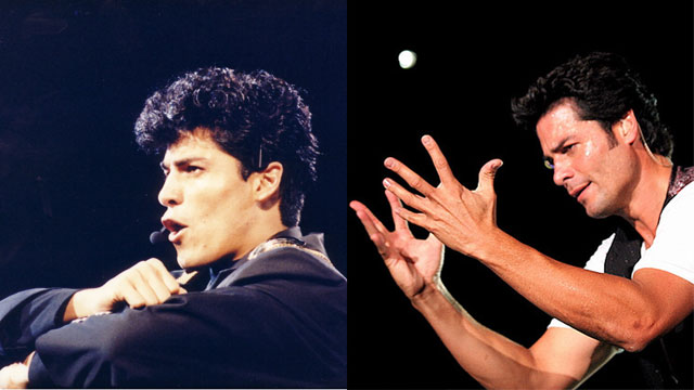 PHOTO:Chayanne at Premio Lo Nuestro in 1989 and at a concert in 2007.