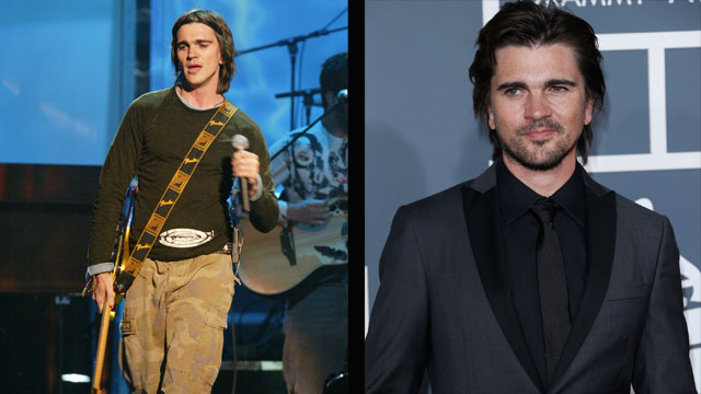PHOTO:Juanes in 2003 and 2013.