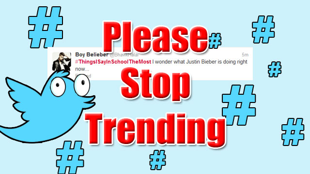 PHOTO:Please Stop Trending series: #ThingsISayinSchoolTheMost