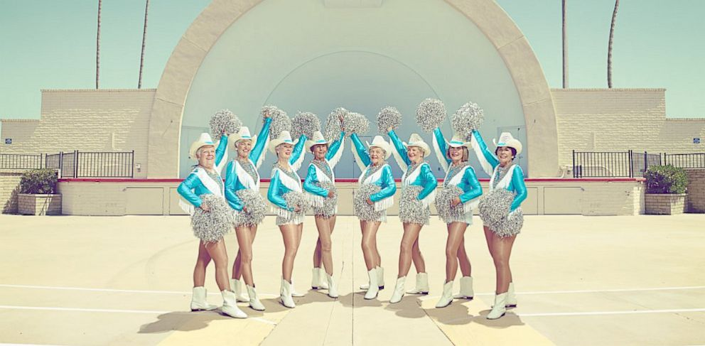 PHOTO: Members of the Sun City Poms pose for a photo.