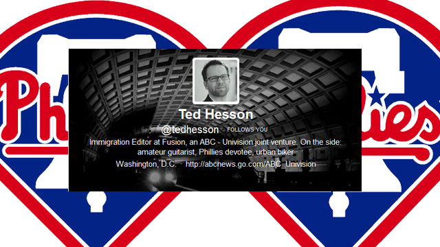 PHOTO:Reporter Ted Hesson's most notable Twitter experience.