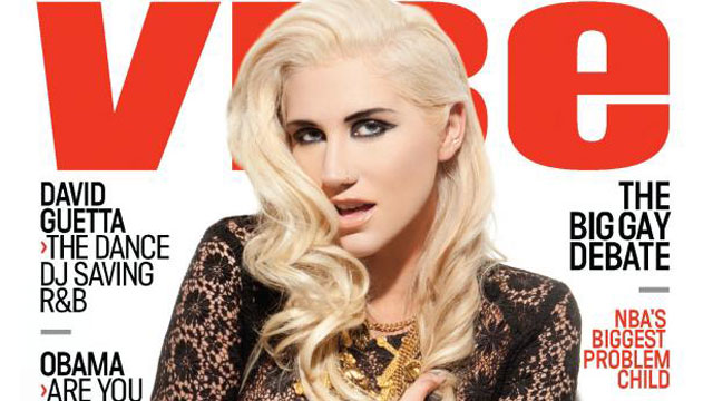 PHOTO:Ke$ha makes history by covering the hip-hop publications October/November 2012 issue.